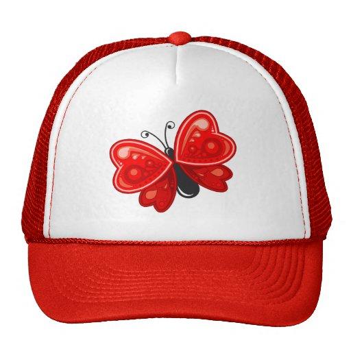 coração da borboleta boné