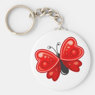 coração da borboleta chaveiro
