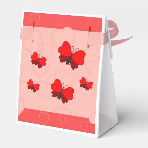 coração da borboleta caixinha de lembrancinhas