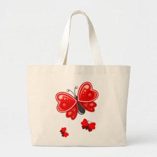 coração da borboleta bolsas para compras