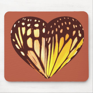 Coração da borboleta mouse pad