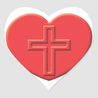 Coração da cristandade adesivo em forma de coração