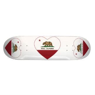 coração da erva daninha da bandeira de Califórnia Shape De Skate 18,4cm