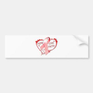 Coração da fé do amor da esperança (vermelho) adesivo para carro