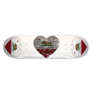 coração da fibra do carbono da república da bandei shape de skate 18,4cm