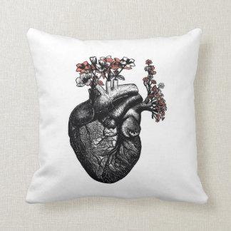 Coração da flor travesseiro