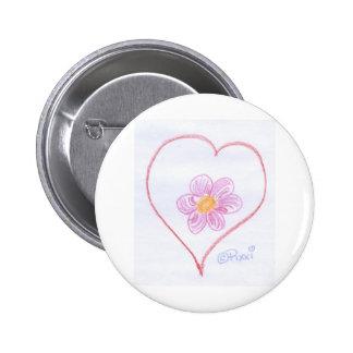 Coração da flor botons