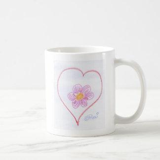 Coração da flor canecas