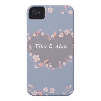 Coração da flor capinha iPhone 4