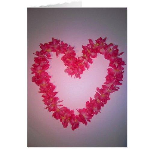 Coração da flor cartões