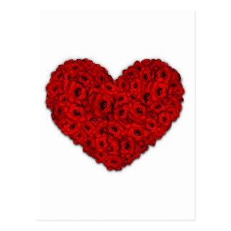 Coração da flor cartão postal