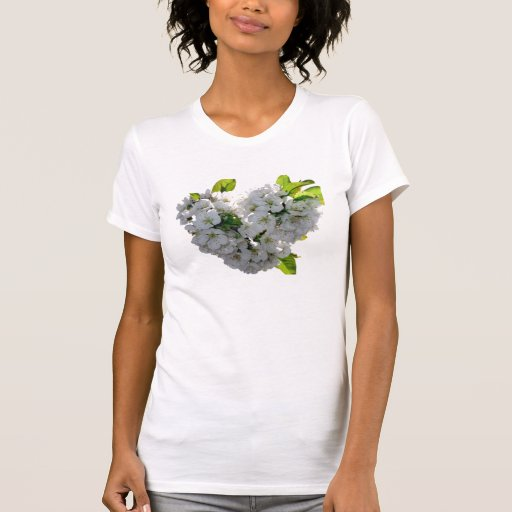 Coração da flor de cerejeira tshirt