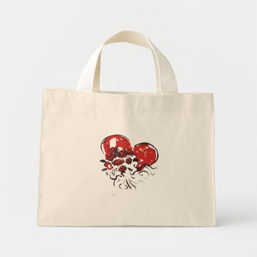 coração da flor bolsas