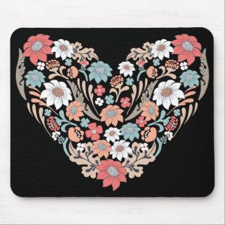 Coração da flor mouse pad