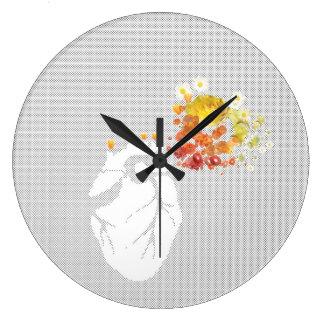 coração da flor relógios de pendurar