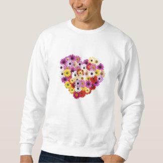 Coração da flor suéter