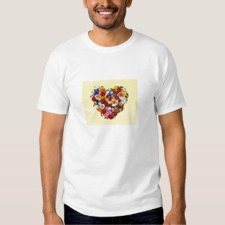 Coração da flor t-shirt