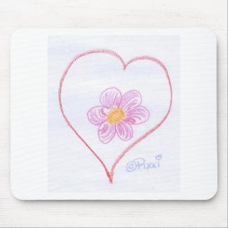 Coração da flor mousepads