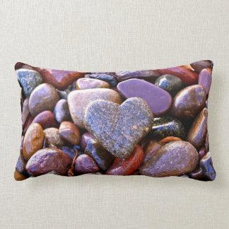 Coração da rocha do rio, travesseiro lombar, verso almofada lombar