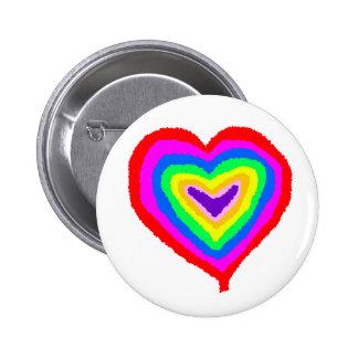 Coração das cores boton