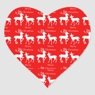 Coração das etiquetas do feriado do Feliz Natal Adesivo Coração
