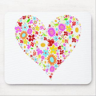 Coração das flores mousepad