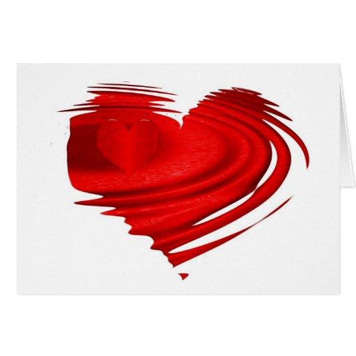 coração de flutuação cartão