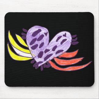 Coração de flutuação mouse pad