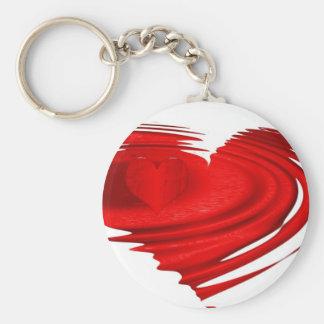 Coração de flutuação chaveiros