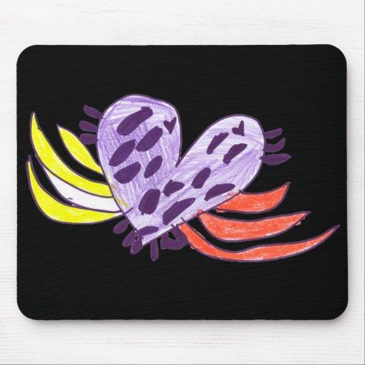 Coração de flutuação mousepad