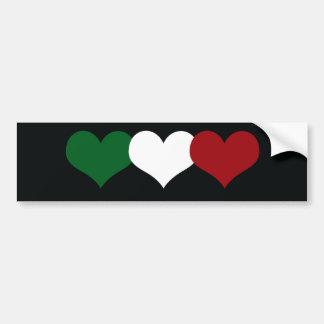 Coração de Italia Adesivo Para Carro
