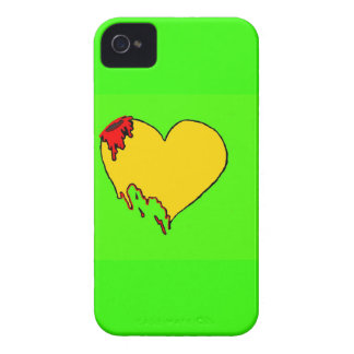 Coração de néon capa iPhone 4 Case-Mate