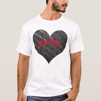 Coração de prata, AMOR vermelho - dia dos Camiseta