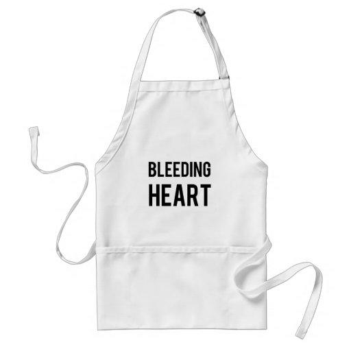 Coração de sangramento avental