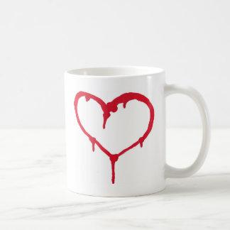 Coração de sangramento caneca de café