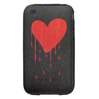 Coração de sangramento capas para iPhone 3 tough