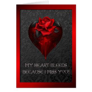 Coração de sangramento cartao