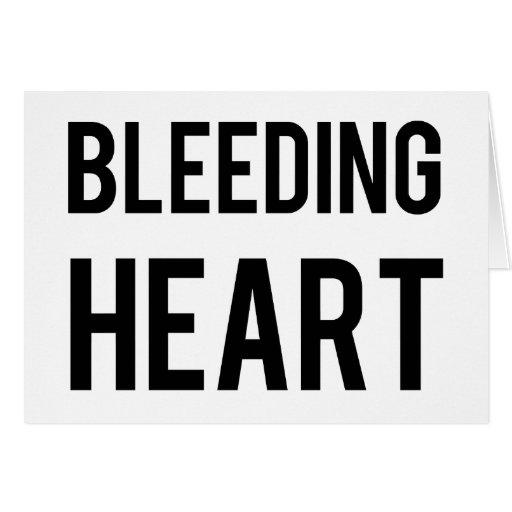 Coração de sangramento cartões