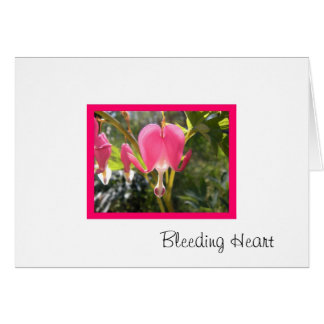Coração de sangramento cartão comemorativo