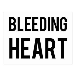Coração de sangramento cartao postal