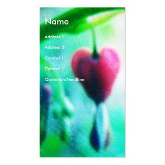 Coração de sangramento cartão de visita