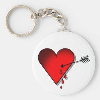 Coração de sangramento chaveiro