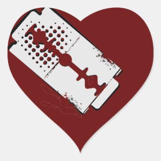 coração de sangramento - etiqueta adesivo coração