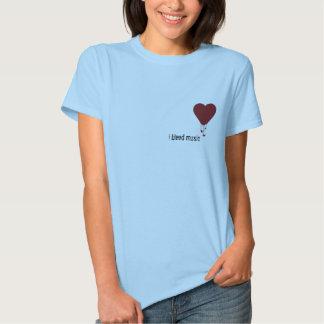 Coração de sangramento, eu sangro a música t-shirt