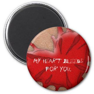 Coração de sangramento ímã redondo 5.08cm