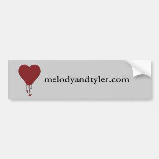 Coração de sangramento, melodyandtyler.com adesivo para carro
