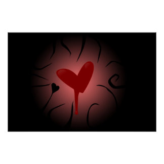 Coração de sangramento posters