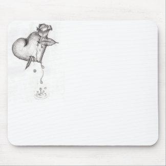 Coração de sangramento mouse pad