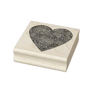 Coração de Scribbleprints Carimbo De Borracha