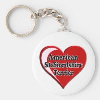 Coração de Staffordshire Terrier americano Chaveiro
